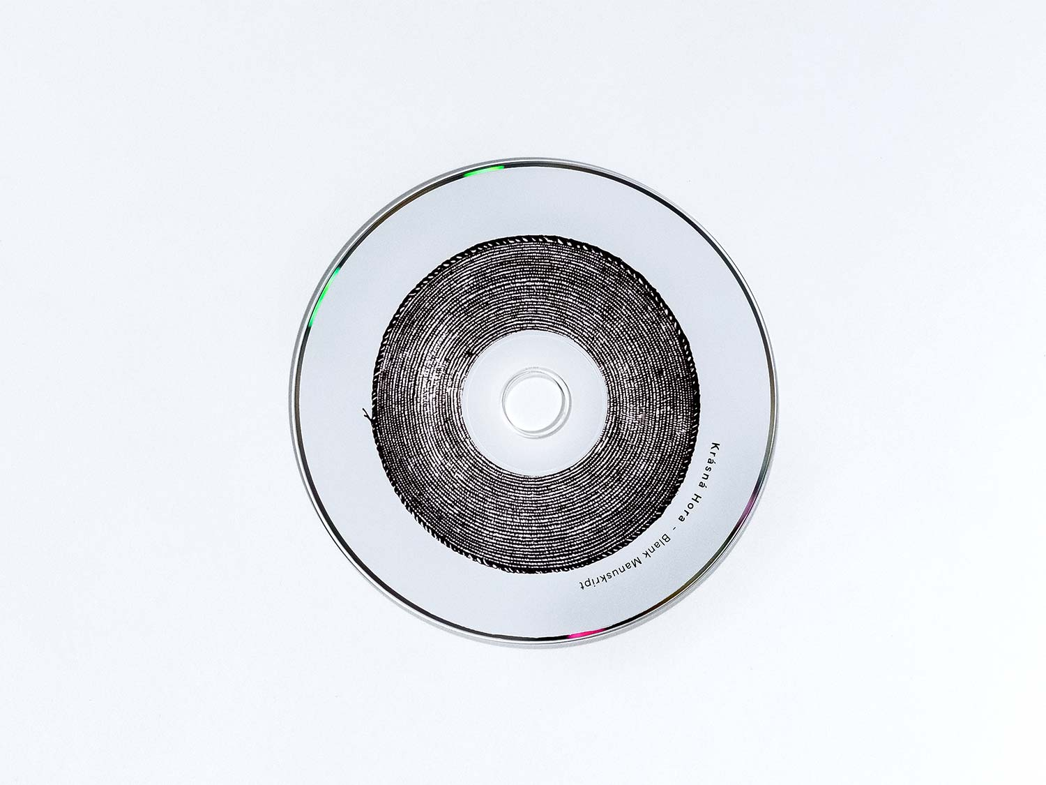 The picture shows the cd of Blank Manuskript's release Krasna Hora.