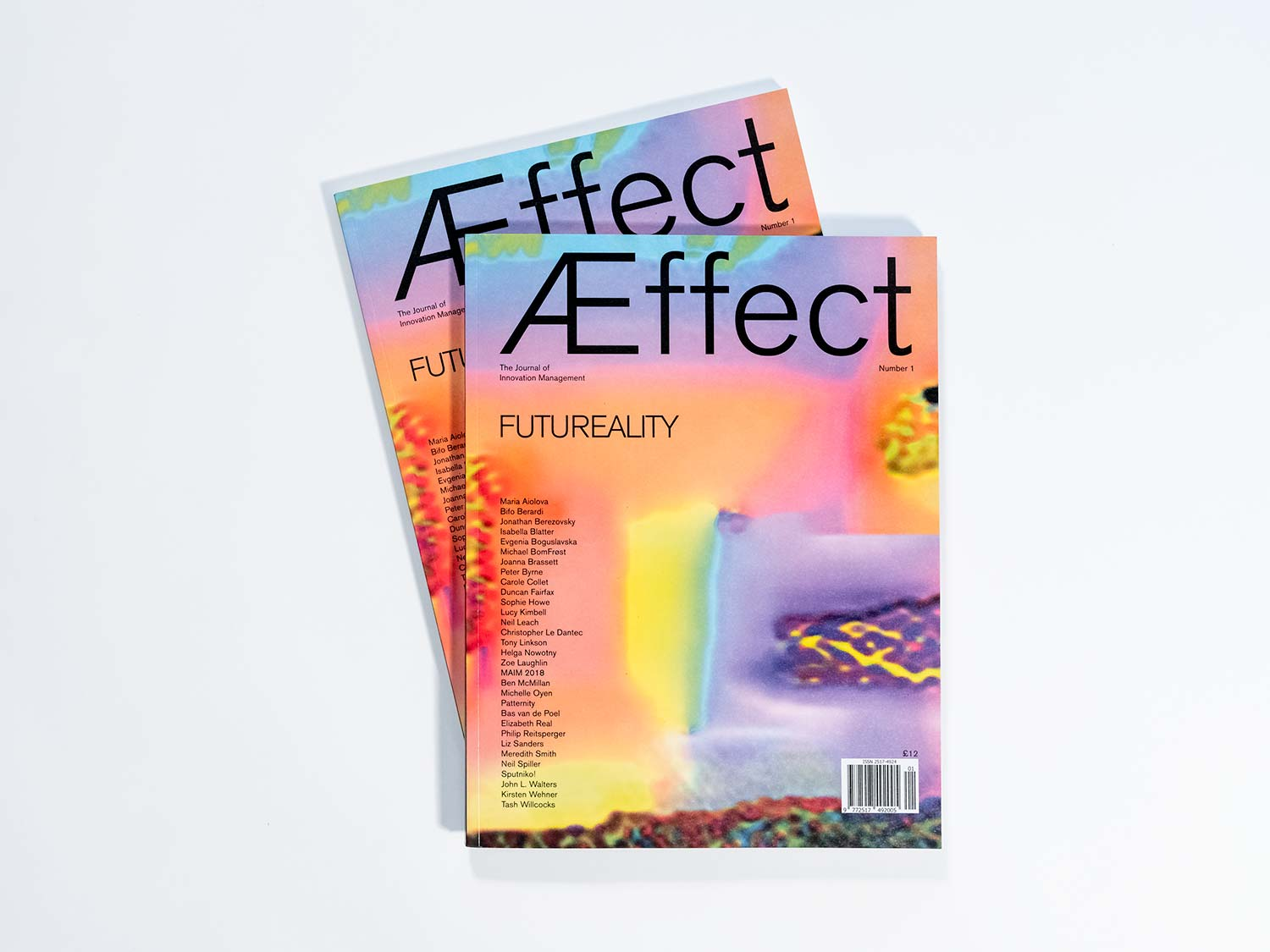 The picture shows the cover of the Æffect Journal.