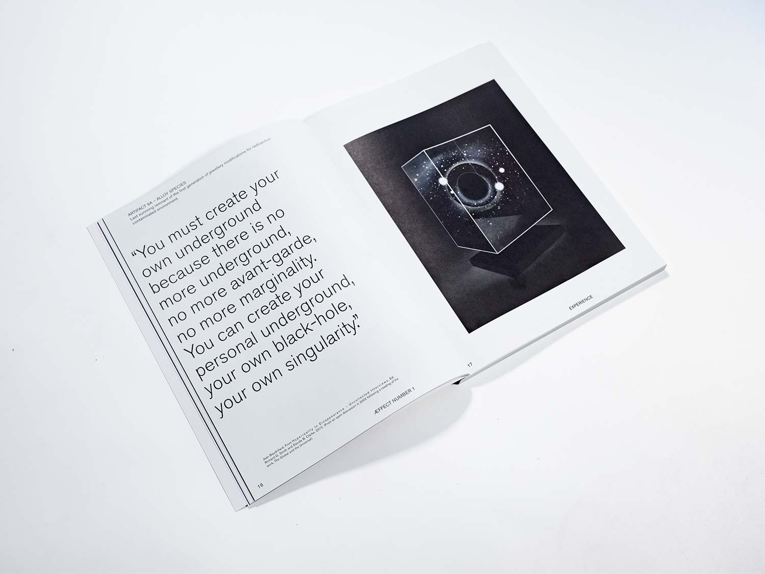 The picture shows the Æffect Journal. By Philip Reitsperger.