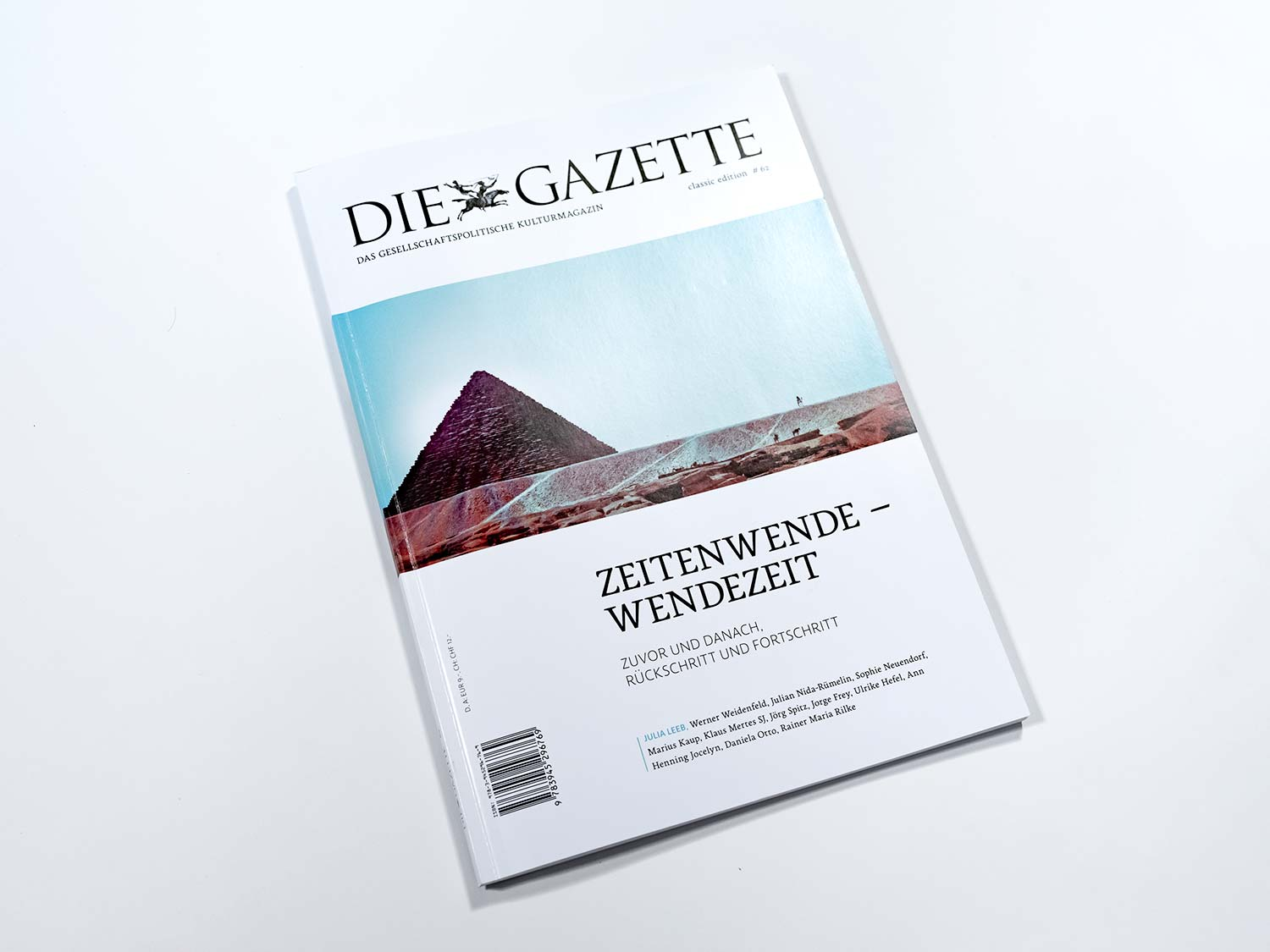 The picture shows the cover of Die Gazette.