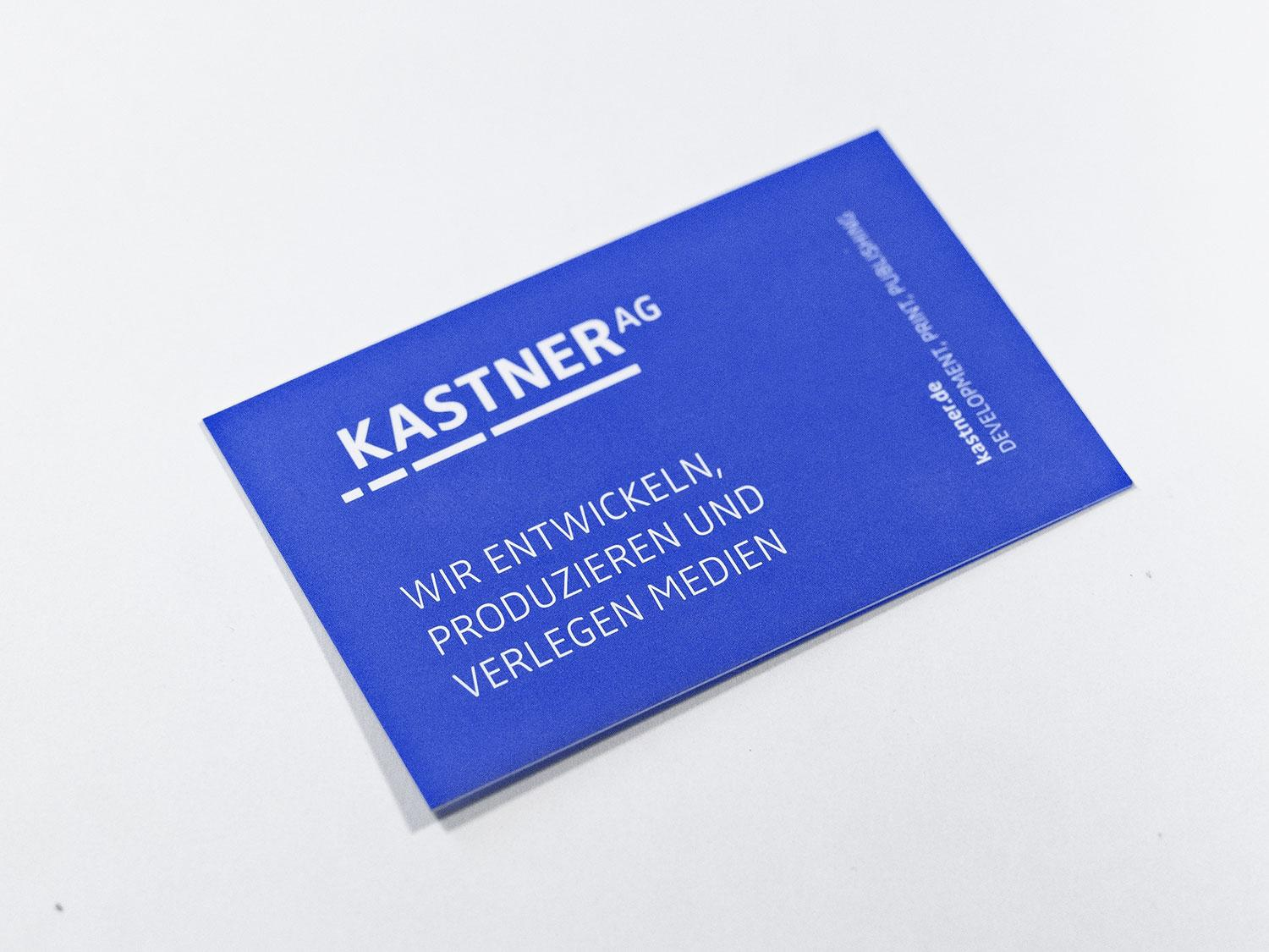 The picture shows communication material of the Kastner AG.