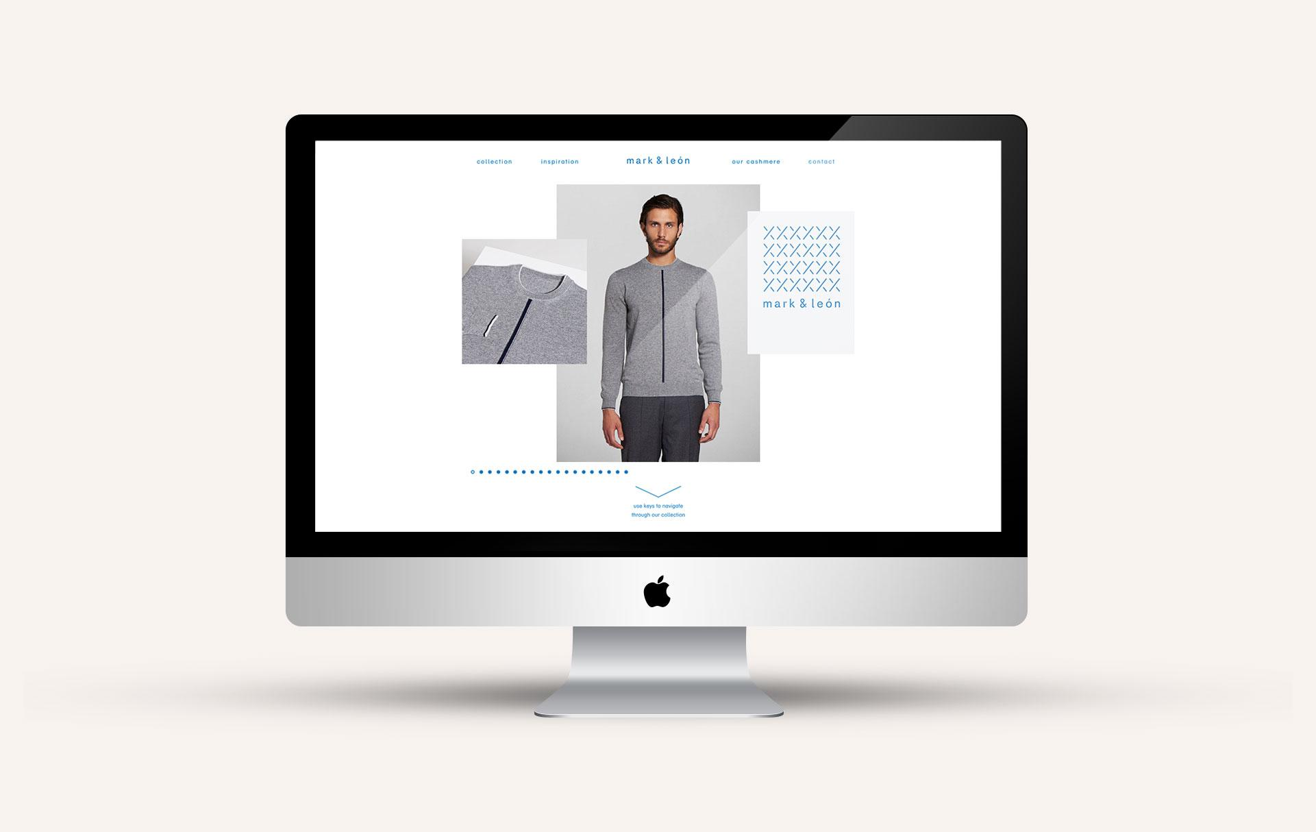 The picture shows web designs for Marka & Leon. By Identity Lab.