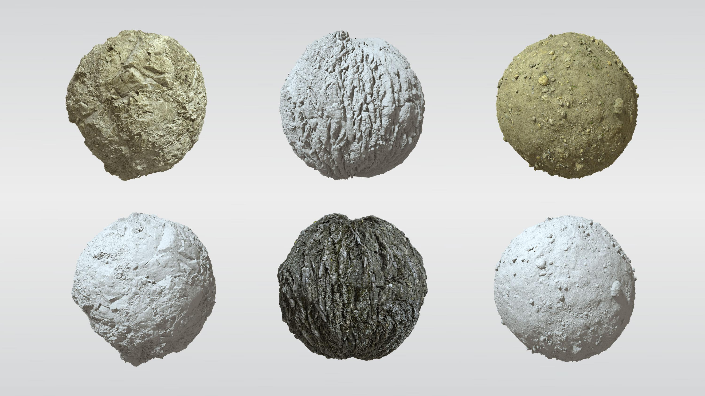 The picture shows 3d nature textures.